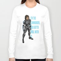 legend of korra Long Sleeve T-shirts featuring Commander Korra by comickergirl