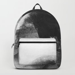 Black and White Contrast Textured Abstract Backpack