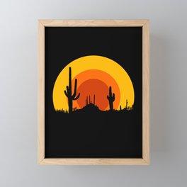 mucho calor Framed Mini Art Print