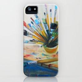Oil studio tools iPhone Case