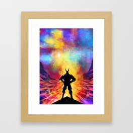 My Hero Academia Inspired Painting   ALL MIGHT Framed Art Print