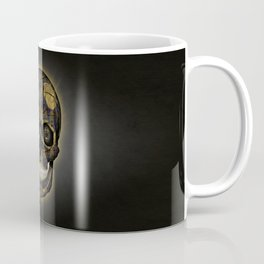 Skull Yellow | Tessellating Skulls Pattern | M. C. Escher Inspired Geometric Artwork by Tessellation Coffee Mug