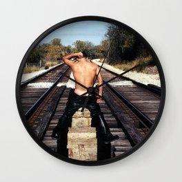 Track Crack Wall Clock
