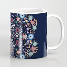 Stone Circle Art Flower Coffee Mug