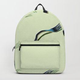 """Surrealistic collage """"Creeping Forks"""", free computer fantasy Backpack"""