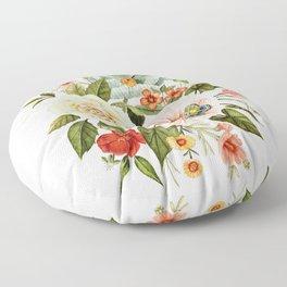 Wildflowers and Butterflies Bouquet  Floor Pillow