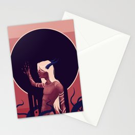 Melted Moon Stationery Cards