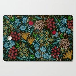 Midnight Garden, folk Cutting Board