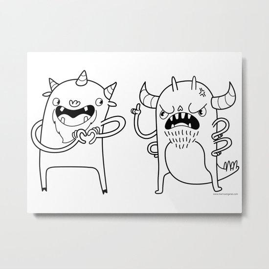 Monster Dialogues Metal Print