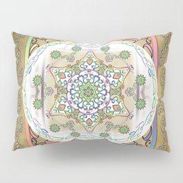 Compassion Mantra Rainbow Mandala Pillow Sham