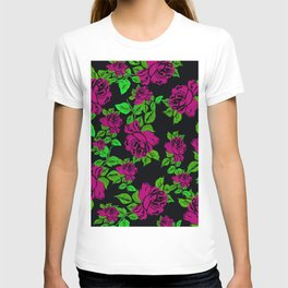 ROSES ROSES PINK AND GREEN T-shirt
