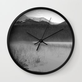 Cabin Lake Wall Clock