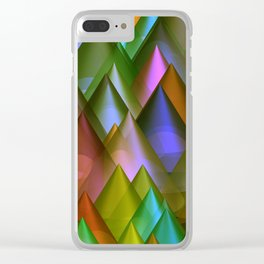 colored cones -2- Clear iPhone Case