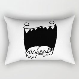 "Thomas' Art ""Mouthy"" Rectangular Pillow"