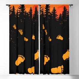 Bigfoot Tracks At Sunset Blackout Curtain