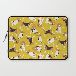 beagle scatter yellow Laptop Sleeve