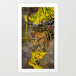 Chinese Lunar New Year and 12 animals ❤ The TIGER 虎 Art Print