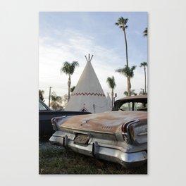 Wigwam + Dodge Canvas Print