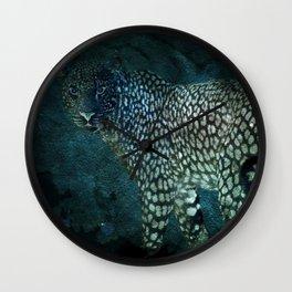 Midnight Jaguar Wall Clock