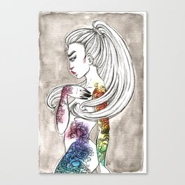 Inky 3 Canvas Print