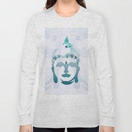 Buddha Head turquoise I Long Sleeve T-shirt