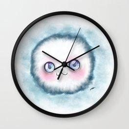 fluffy kawaii Wall Clock