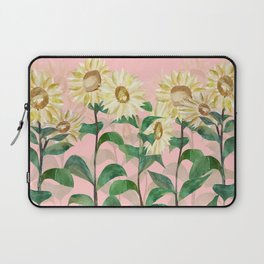 Sunflowers in Pink Laptop Sleeve