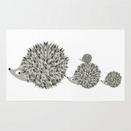 Hedgehogs family Rug