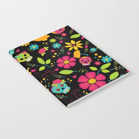 Dia De Los Muertos (black) Notebook