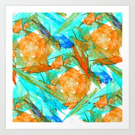 Original Abstract Duvet Covers by Mackin & MORE Art Print