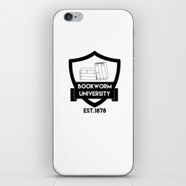 Bookworm University since 1878 iPhone Skin