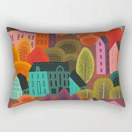 fall city Rectangular Pillow