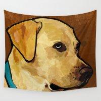 labrador Wall Tapestries featuring Labrador Retriever by Ed Pires