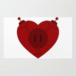 Robot Heart Rug