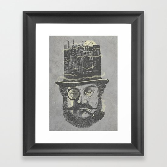 Old man hatten Framed Art Print