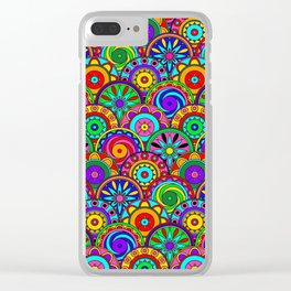 Merry Circles Clear iPhone Case