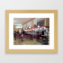 Old Woolworth's Lunch Counter Framed Art Print