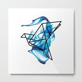 Blue smoky bird Metal Print