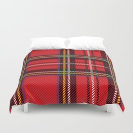 red kilt Duvet Cover