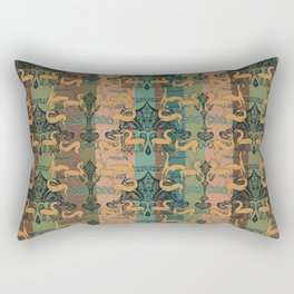 Ancient Greek Terracotta with Leaping Horses & Antelopes by Danae Anastasiou Rectangular Pillow