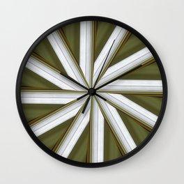 Golden Fan Wall Clock
