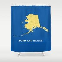 alaska Shower Curtains featuring Alaska by Hunter Ellenbarger