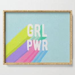 GRL PWR x Blue Serving Tray