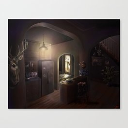 Door Spook Canvas Print