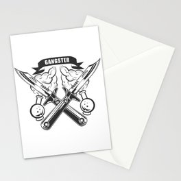 """""""GANGSTER"""" Fashion Modern Design Print! Rap, Hip Hop style and more Stationery Cards"""