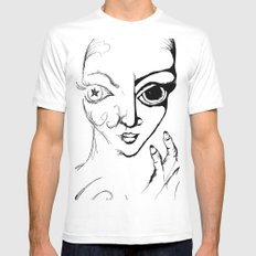 Odyssey MEDIUM White Mens Fitted Tee
