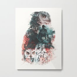 Not What They Seem Inspired by Twin Peaks Metal Print