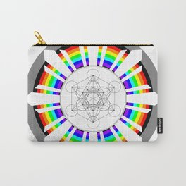 Metatron's Cube in Dharmachakra Carry-All Pouch