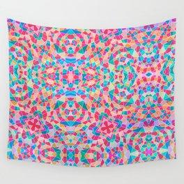 Multi-Colored Kaleidoscope Geometric Geometry Shapes Wall Tapestry