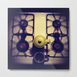 French Press & Stove Metal Print